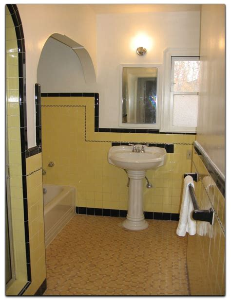 yellow and black bathroom 50 best images about vintage tile bathrooms on pinterest