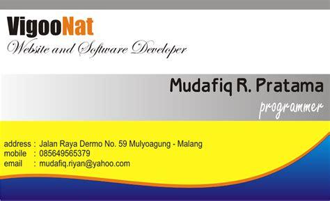 Kartu Nama 1 Muka Bw220 makmur jaya printing 10 09 15
