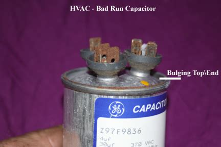 blown capacitor on ac unit lennox ac unit is not supplying cool air thermostat has power inside blower unit operates