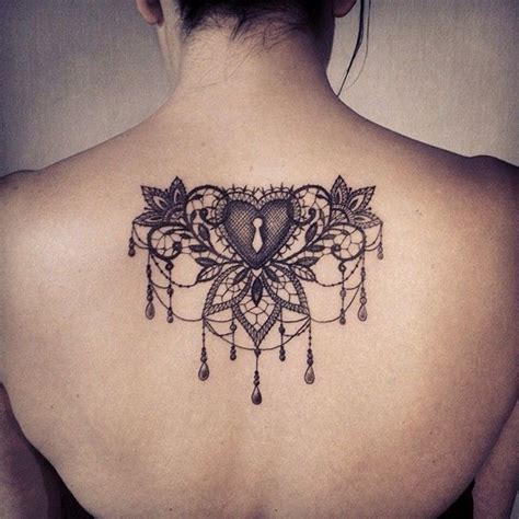 lace back tattoo 101 lace designs that fit for any