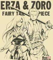 zoro  erza color version  boos  deviantart