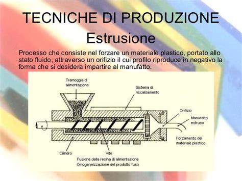 di produzione plastica e tecniche di produzione