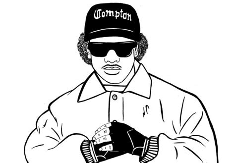 eazy e coloring page eazy e colouring pages sketch coloring page