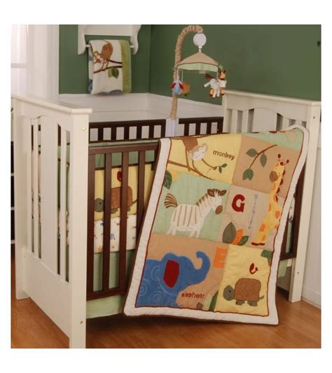 line crib bedding kidsline safari 4 crib bedding set