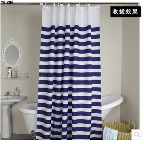 white and navy shower curtain hot sale navy european classic blue and white waterproof