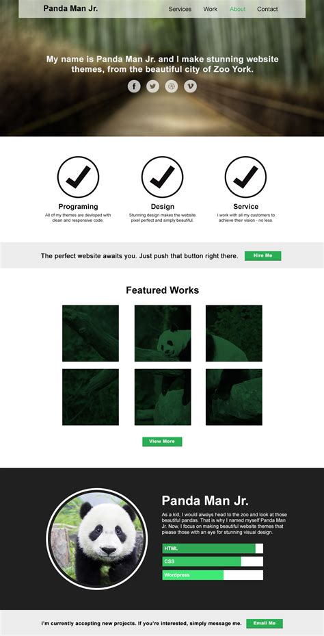 mock page template free psd one page website template for designers free