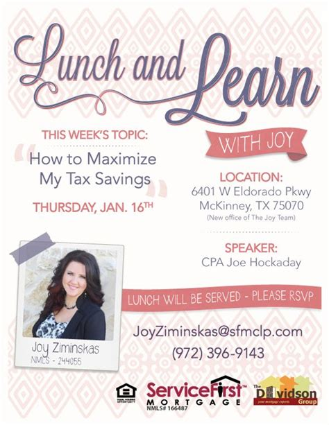 Marketing Flyer For Mortgage Company Lunch And Learn On Behance By Vanessa Abigail Freelance Lunch And Learn Flyer Template