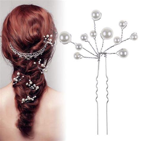Faux Pearl Hair Clip Hair Pin 2pc fashion wedding bridal faux pearl hair pins clip