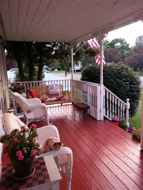 Painted Porch Floor by Painted Front Porch Floor For The Home