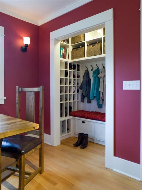 create  family friendly mudroom drop zone hgtv
