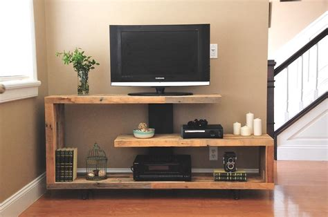 modern tv console rustic modern tv console do it yourself home projects