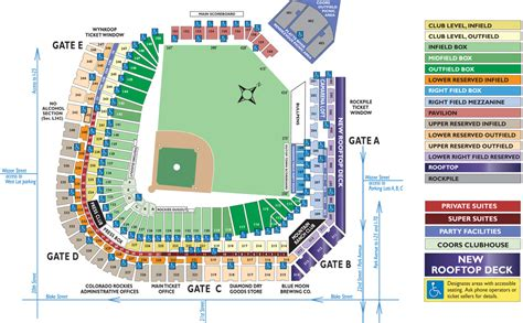 coors field map seating chart coors field coors field map map3 ayucar