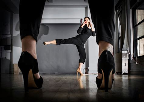 Karate The Masster Of Attack And Defence using high heels for self defense the new york times