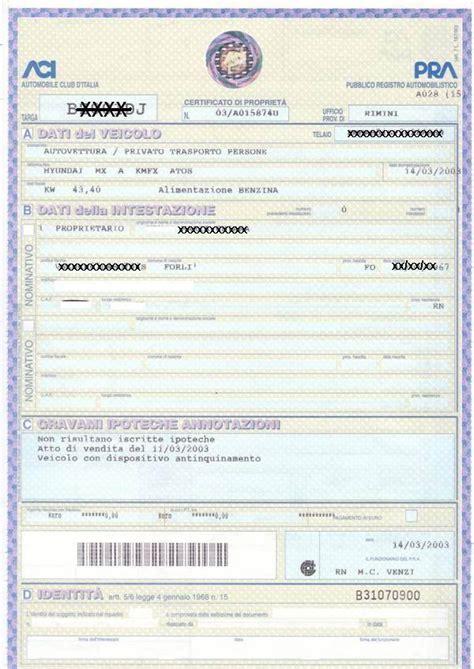 passaggio di propriet 224 auto costo documenti e procedura