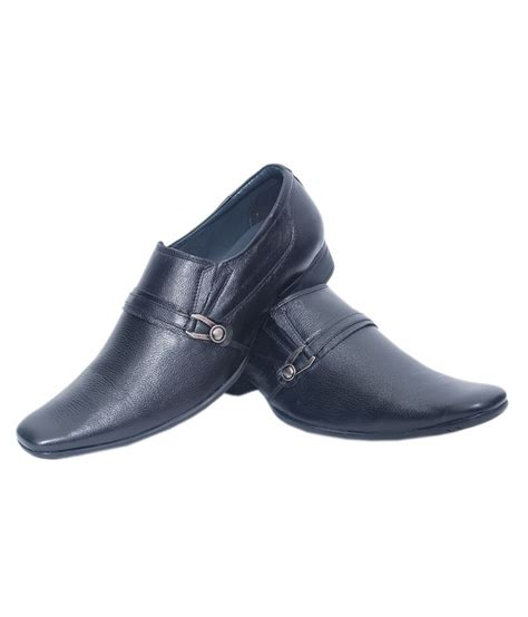 aura shoes black leather formal shoes price in india buy