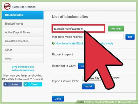chrome has blocked it 4 ways to block a website in google chrome wikihow