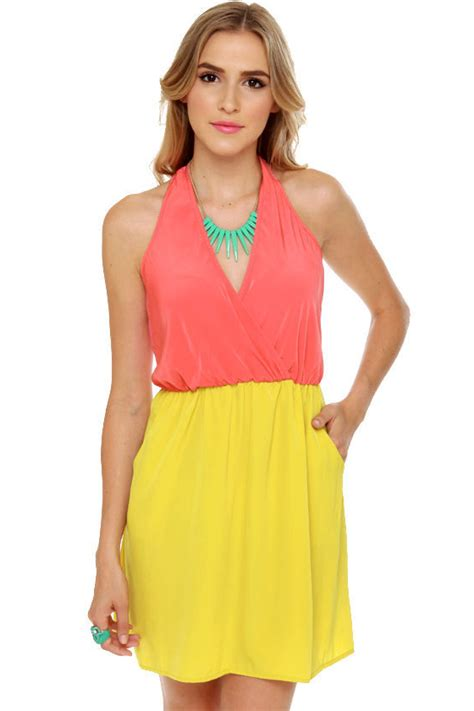 Lulus Exclusive Offer Get 15 On Fab Clothes by Cool Backless Dress Cage Dress Color Block Dress 40 00