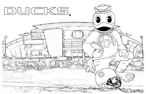 Oregon Duck Coloring Pages free coloring pages of oregon ducks