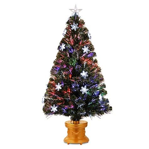 national tree 4 foot fiber optic fireworks snowflakes