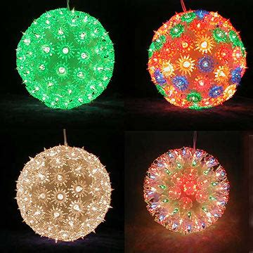 christmas light balls outdoors   alternative
