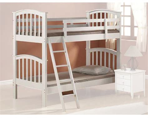 acme bunk beds acme furniture twin over twin bunk bed in white ac02321