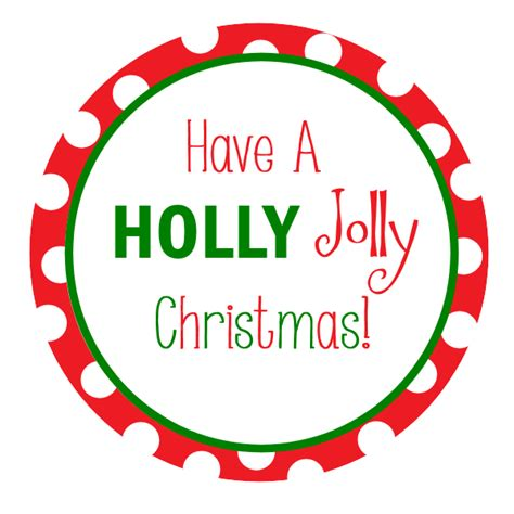 holly jolly christmas printable tags free printable christmas tags crazy little projects