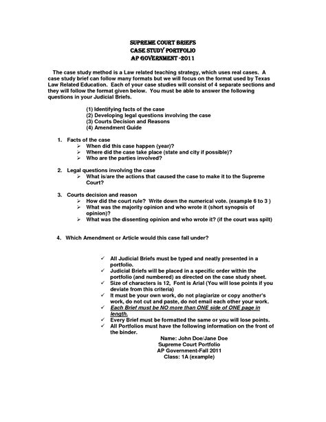 Professional Writing Sle Briefformat Brief Template Cyberuse
