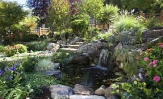 Backyard Landscapes Designs by Gartenteich Garten Am Hang Anlegen Trittstufen