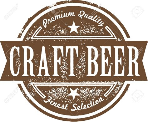 craft beer black white sticker logo stock vector 393749374 craft beer clipart