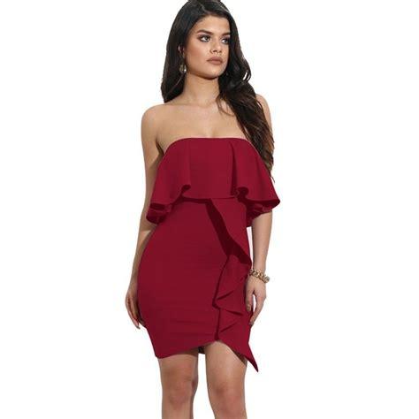 vestidos  shoulder  mujer cortos rojos elegantes sexy de fiesta casuales ebay