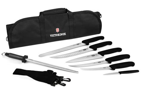 victorinox kitchen knives set victorinox fibrox bbq knife roll set 8