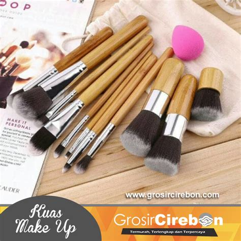 11 Kuas Make Up Bamboo kuas make up bamboo kabuki 11 pcs grosir cirebon