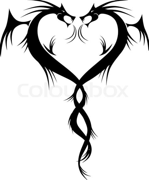 couple tattoo vector couple of dragons tattoo vector illustration for your