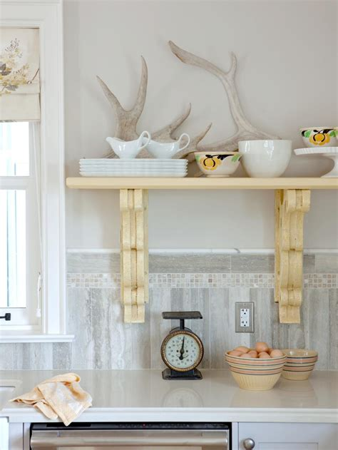 Designer Kitchens Magazine - bookshelf and wall shelf decorating ideas hgtv