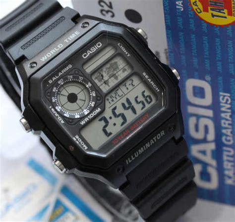 Tali Jam Casio W96h Original jam tangan casio original ae 1200w hitam tali karet