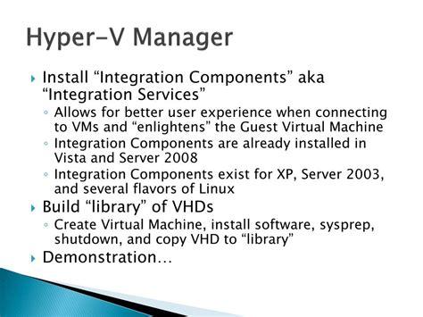windows server 2008 hyper v integration services ppt virtualization with windows 2008 hyper v powerpoint