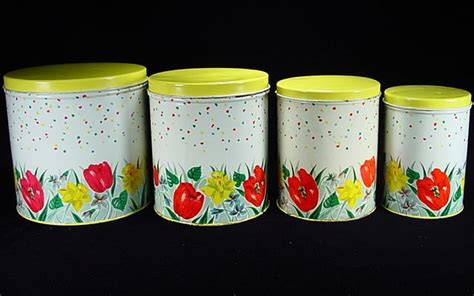 colorful kitchen canisters sets 1000 images about vintage canister sets on