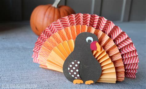 How To Make A Paper Fan That Works - kid craft monday turkey a and a glue gun