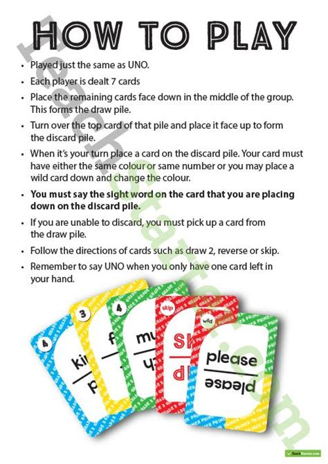 Uno Partisi 30 B dolch words uno cards classroom teaching resource uno cards free printable and cards