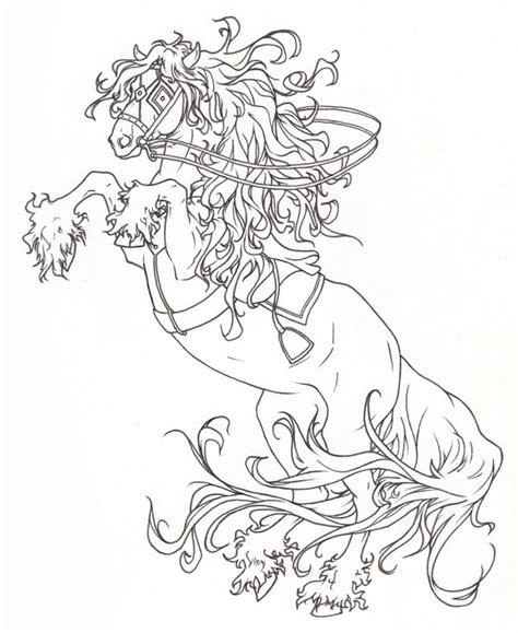 halloween coloring pages headless horseman headless horseman s mount by requay on deviantart