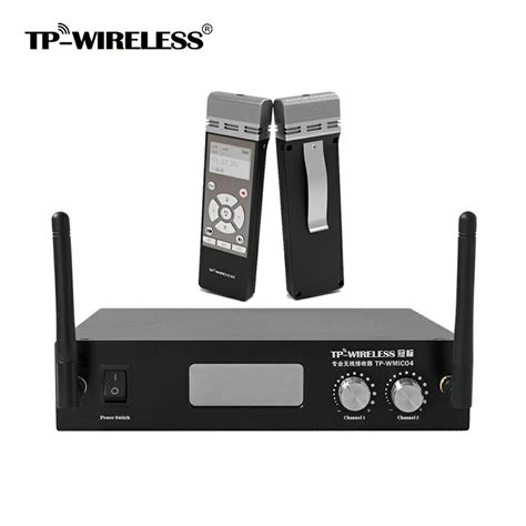 Portable Meeting Wireless Krezt 9902u 1 tp wireless 2 channel 2 4ghz handheld digital wireless microphone mic system meeting familyl