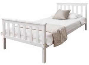 White Wooden Bed Frame Single Singapore Single Bed In White 3ft Single Bed Wooden Frame White Ebay