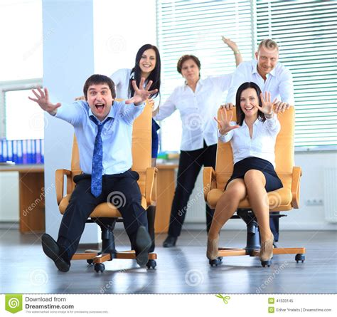 Office For Employees by Happy Office Employees At Work Stock Photo
