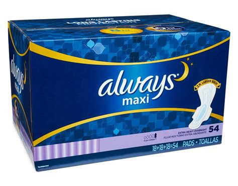 Jilbab Flowing Pad 4 boxed always maxi pad with leakguard flexiwing 54 pads heavy flow