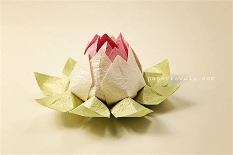 Origami Lotus Tutorial - modular origami lotus flower tutorial 183 how to fold an
