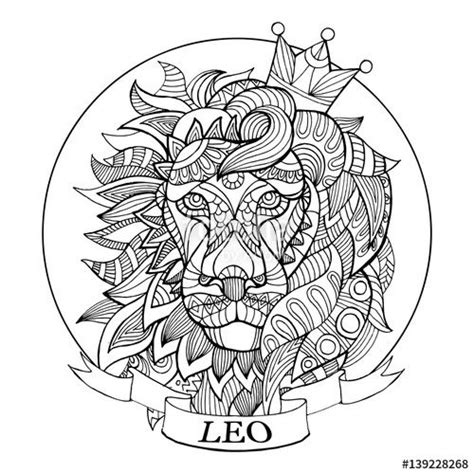 leo sign coloring pages coloring pages