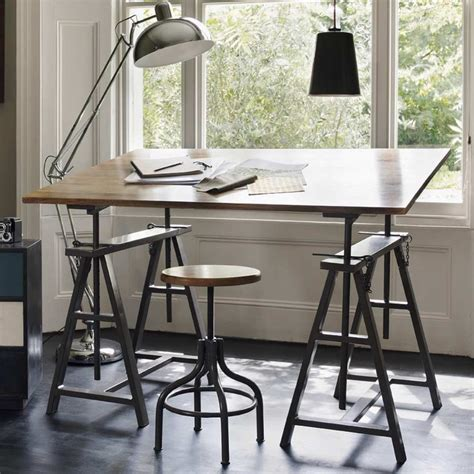 Drafting Table And Desk Show Your Metal Track School Desks And Army Trunks As Workplace Design Is Moving Into