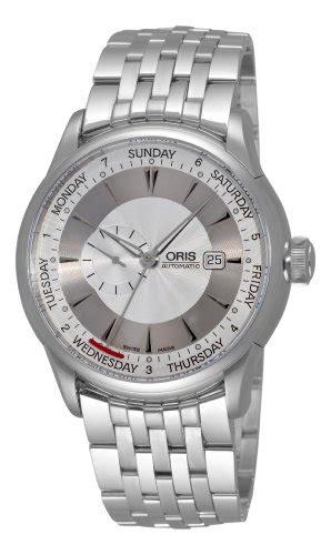 Oris Mens 64575964051MB Artelier Silver Day Date Dial Watch   watch107