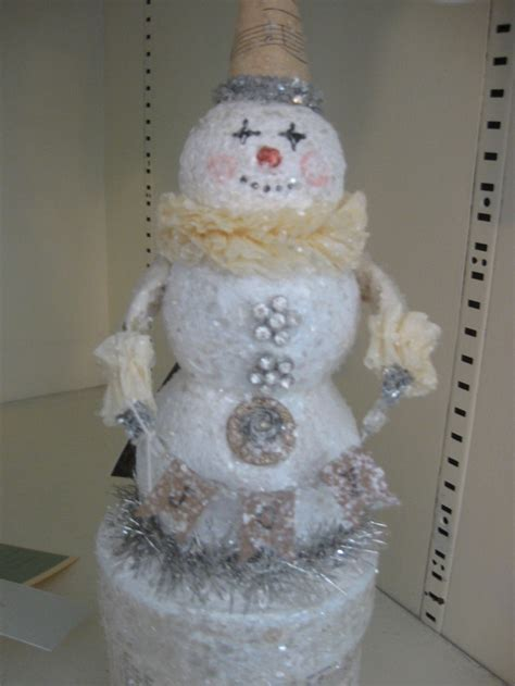 How To Make Paper Mache Snowman - vintage paper mache snowman snowman themed