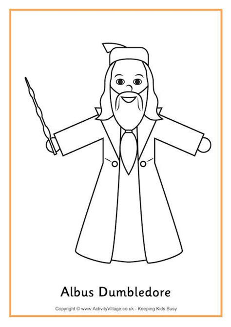 harry potter coloring pages dumbledore albus dumbledore colouring page